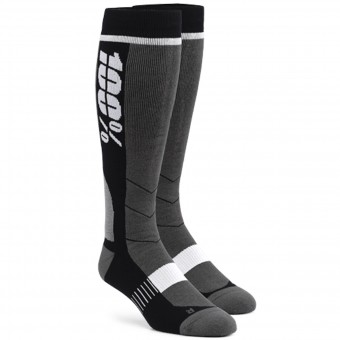Motocross Shoes 100% Socks Hi Side Grey Black