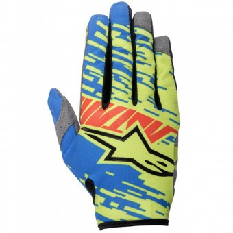 Motocross Gloves Alpinestars Racer Braap Blue Red