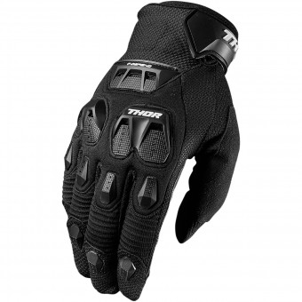 Motocross Gloves Thor Defend Black