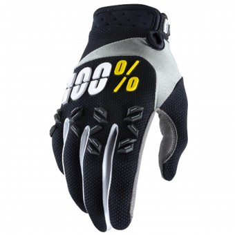Motocross Gloves 100% Airmatic Black Yellow Kid