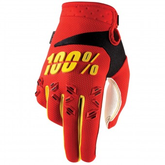 Motocross Gloves 100% Airmatic Red Kid