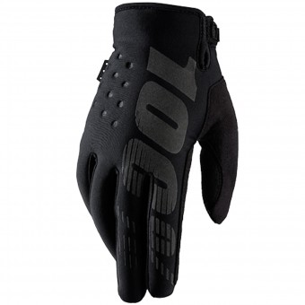 Motocross Gloves 100% Brisker Black