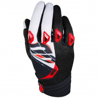Motocross Gloves SHOT Devo Fast Red Black Kid