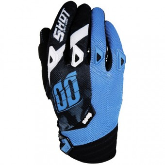 Motocross Gloves SHOT Devo Squad Blue Black