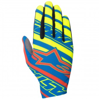 Motocross Gloves Alpinestars Dune Blue Red