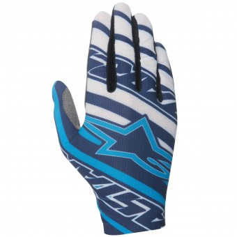 Motocross Gloves Alpinestars Dune Navy Cyan