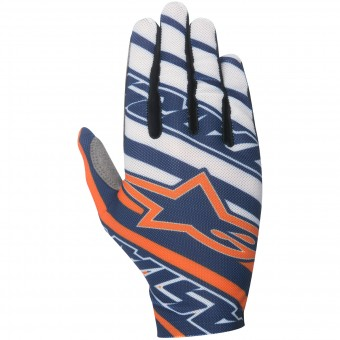 Motocross Gloves Alpinestars Dune Navy Orange