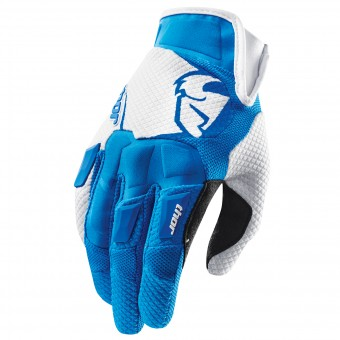 Motocross Gloves Thor Flow Bleu