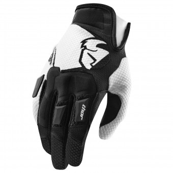Motocross Gloves Thor Flow Black