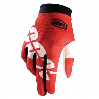 Motocross Gloves 100% Itrack Fire Red
