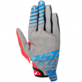 Motocross Gloves Alpinestars Racer Braap Blue Red Kid