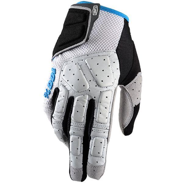 Motocross Gloves 100% Simi Grey Cyan