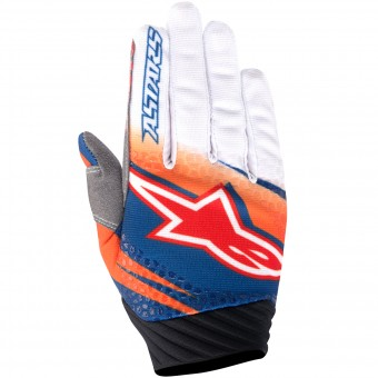 Motocross Gloves Alpinestars Techstar Venom Orange