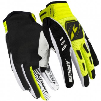 Motocross Gloves Kenny Track Neon Yellow Kid
