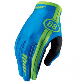 Motocross Gloves Thor Void Course Blue Kid