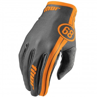 Motocross Gloves Thor Void Course Charcoal Kid