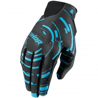 Motocross Gloves Thor Void Plus Circulus Cyan