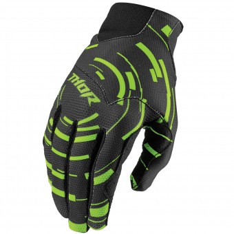 Motocross Gloves Thor Prime Tach Navy Flo Orange