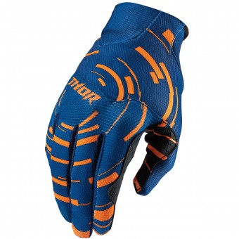 Motocross Gloves Thor Void Plus Circulus Flo Orange Kid