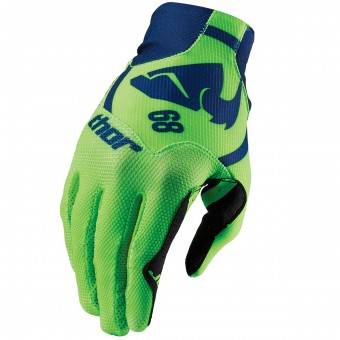 Motocross Gloves Thor Void Plus Gasket Navy Green