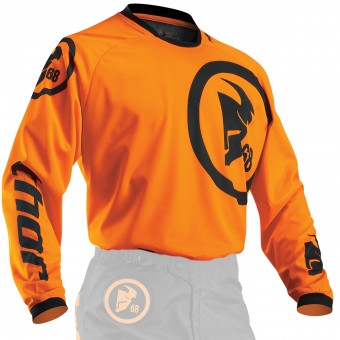 Motocross Jerseys Thor Phase Gasket Flo Orange Black