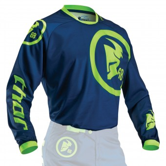 Motocross Jerseys Thor Phase Gasket Navy Lime Kid
