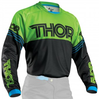 Motocross Jerseys Thor Phase Hyperion Black Green