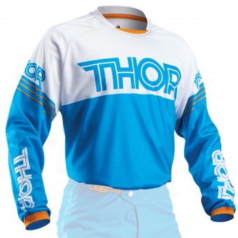 Motocross Jerseys Thor Phase Hyperion Blue Kid