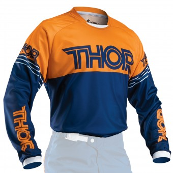 Motocross Jerseys Thor Phase Hyperion Navy Orange