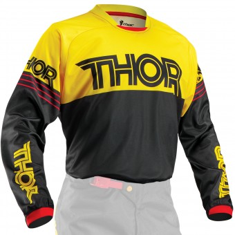 Motocross Jerseys Thor Phase Hyperion Yellow Kid