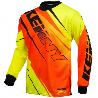 Motocross Jerseys Kenny Track Neon Orange Yellow Kid