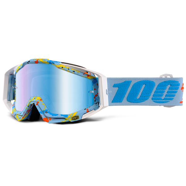 Motocross Goggles 100% Racrcraft Hyperloop Mirror Blue