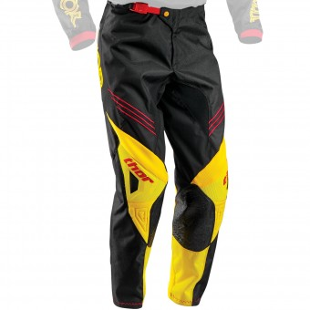 Motocross Trousers Thor Phase Hyperion Black Yellow Pant