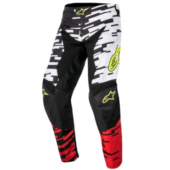 Motocross Trousers Alpinestars Racer Braap White Red Pant Kid