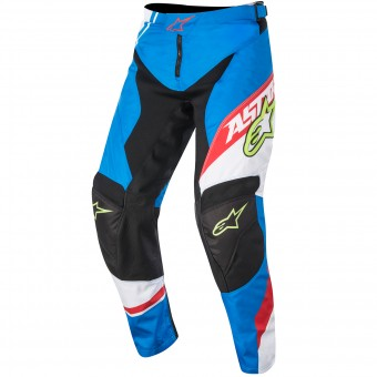 Motocross Trousers Alpinestars Racer Supermatic Blue Red Pant Kid