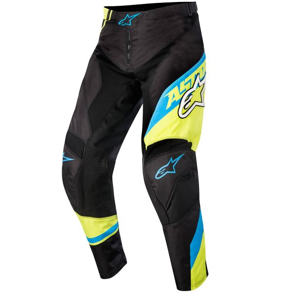 Motocross Trousers Alpinestars Racer Supermatic Blue Yellow Pant Kid