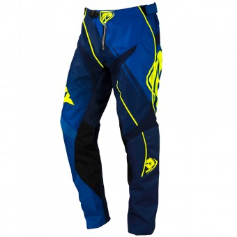 Motocross Trousers Kenny Track Blue Neon Yellow Pant Kid