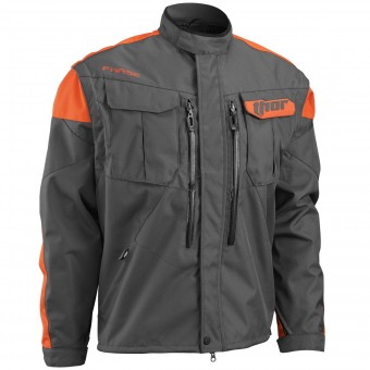 Motocross Jackets Thor Phase Jacket Charcoal Orange