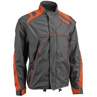 Motocross Jackets Thor Range Jacket Charcoal Orange