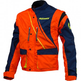 Motocross Jackets Kenny Track Enduro Blue Neon Orange Jacket