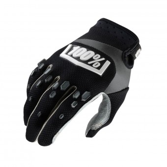 Motocross Gloves 100% Airmatic Black Kid