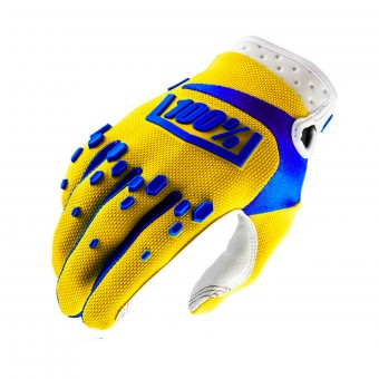 Motocross Gloves 100% Airmatic Yellow Kid