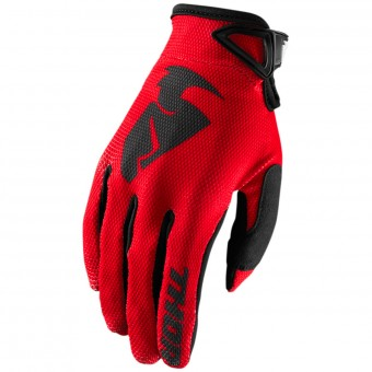 Motocross Gloves Thor Sector Glove Red Kid