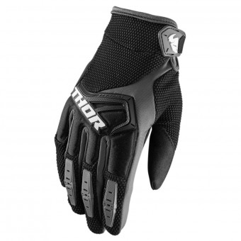 Motocross Gloves Thor Spectrum Black Grey