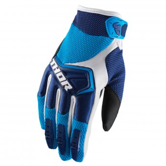 Motocross Gloves Thor Spectrum Navy Blue White