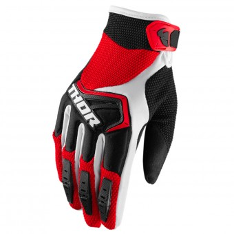 Motocross Gloves Thor Spectrum Red Black White