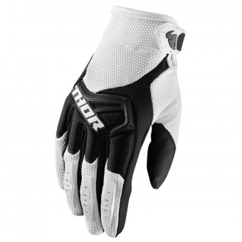 Motocross Gloves Thor Spectrum White Black