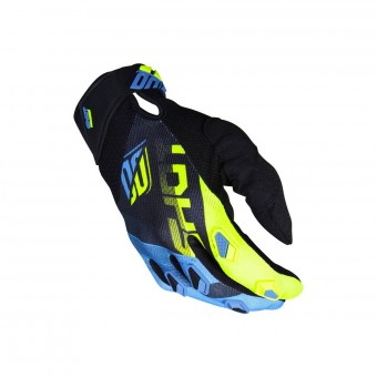 Motocross Gloves SHOT Devo Ultimate Blue Neon Yellow CE Kid