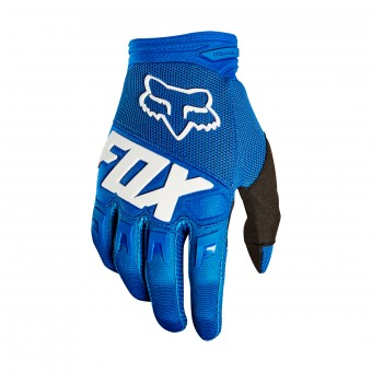 Motocross Gloves FOX Dirtpaw Race Blue Kid