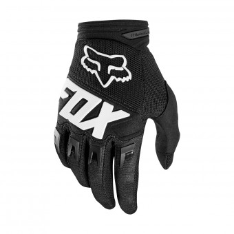Motocross Gloves FOX Dirtpaw Race Black Kid